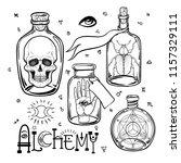 alchemy symbol icon set.... | Shutterstock .eps vector #1157329111