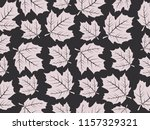 exotic floral maple leaf... | Shutterstock .eps vector #1157329321