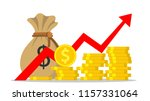 profit money or budget  pile of ... | Shutterstock . vector #1157331064