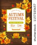 autumn festival. fall party... | Shutterstock .eps vector #1157335657