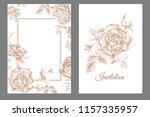 wedding invitations cards... | Shutterstock .eps vector #1157335957