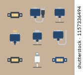 cables icons set. monitor ... | Shutterstock .eps vector #1157336494