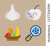 vitamin vector icons set. germs ... | Shutterstock .eps vector #1157336584
