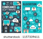 business process algorithm and... | Shutterstock .eps vector #1157339611