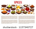 spices banner with aroma food... | Shutterstock .eps vector #1157340727