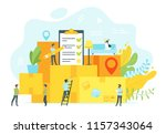 vector flat style concept for... | Shutterstock .eps vector #1157343064