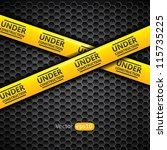 under construction caution tape ... | Shutterstock .eps vector #115735225