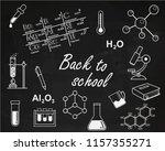 back to school. chemistry lesson | Shutterstock .eps vector #1157355271
