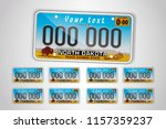 set north dakota auto license... | Shutterstock .eps vector #1157359237