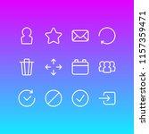 vector illustration of 12 app... | Shutterstock .eps vector #1157359471