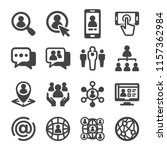 social network icon set | Shutterstock .eps vector #1157362984