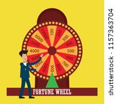 fortune wheel for gambling... | Shutterstock .eps vector #1157363704