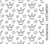 fairy tale princess seamless... | Shutterstock .eps vector #1157369347