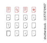 illustration of 16 paper icons...