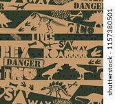 seamless  dino pattern  print... | Shutterstock .eps vector #1157380501