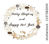 merry christmas and happy new... | Shutterstock .eps vector #1157382034