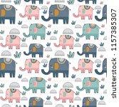 seamless pattern background... | Shutterstock .eps vector #1157385307