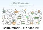museum advertising poster... | Shutterstock .eps vector #1157386441