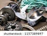 boat propeller speed boat made... | Shutterstock . vector #1157389897