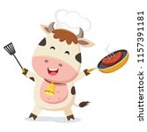 cute cow chef | Shutterstock .eps vector #1157391181