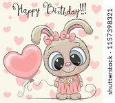 greeting birthday card cute... | Shutterstock .eps vector #1157398321