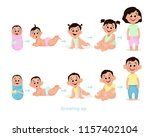 age measurement of growth boy... | Shutterstock .eps vector #1157402104