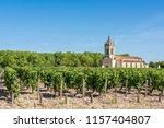 vineyard in medoc  france   a...   Shutterstock . vector #1157404807