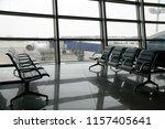 airport terminal departure area ... | Shutterstock . vector #1157405641