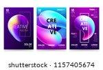 trendy vector fluid gradient a4 ... | Shutterstock .eps vector #1157405674