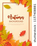 autumn background with leaves.... | Shutterstock .eps vector #1157408881