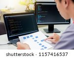 developing programming and... | Shutterstock . vector #1157416537