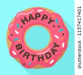 vector birthday icon of a sweet ... | Shutterstock .eps vector #1157417401