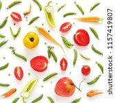 wallpaper  food pattern... | Shutterstock . vector #1157419807