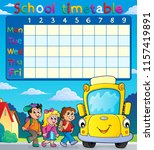 school timetable with pupils... | Shutterstock .eps vector #1157419891