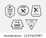 set of vintage label home... | Shutterstock .eps vector #1157422987
