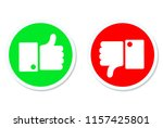 thumbs up and thumbs down  like ... | Shutterstock . vector #1157425801
