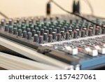 sound mixer control desk | Shutterstock . vector #1157427061
