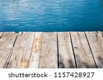 old wooden pier on the  lake. | Shutterstock . vector #1157428927
