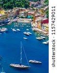 portofino  italy   colorful... | Shutterstock . vector #1157429011