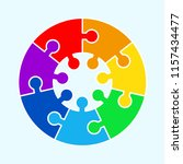 puzzle circle jigsaw game... | Shutterstock . vector #1157434477