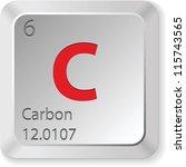 carbon   keyboard button   Shutterstock .eps vector #115743565