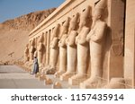 luxor  egypt  april 2018. man... | Shutterstock . vector #1157435914