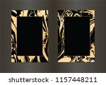 set of vector black and gold... | Shutterstock .eps vector #1157448211