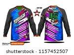long sleeve motocross jerseys t ... | Shutterstock .eps vector #1157452507