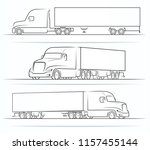 american road train silhouettes ... | Shutterstock .eps vector #1157455144