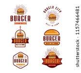 fast food logo design  retro... | Shutterstock .eps vector #1157466481