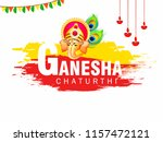 happy ganesh chaturthi design ... | Shutterstock .eps vector #1157472121