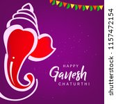 happy ganesh chaturthi design ...   Shutterstock .eps vector #1157472154