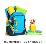 Backpack With School Stationery ...
