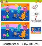 cartoon illustration of finding ... | Shutterstock .eps vector #1157481391